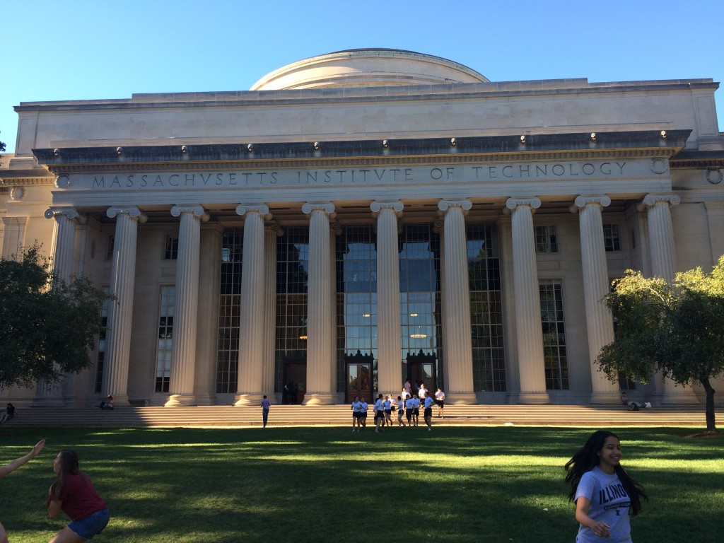 MIT's central library, taken from Killian Court.
